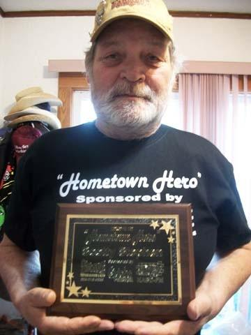 "Scotty Stephen recently received the ""Hometown Hero"" award for 2012 in Aberdeen. Stephen's volunteer activities include assisting with Sizzlin' Summer Nights, SPURS, Salvation Army Canteen and the American Cancer Society. The award is sponsored by Qdoba's, Dakota Broadcasting and 5th Avenue Trophies Banners and Signs."