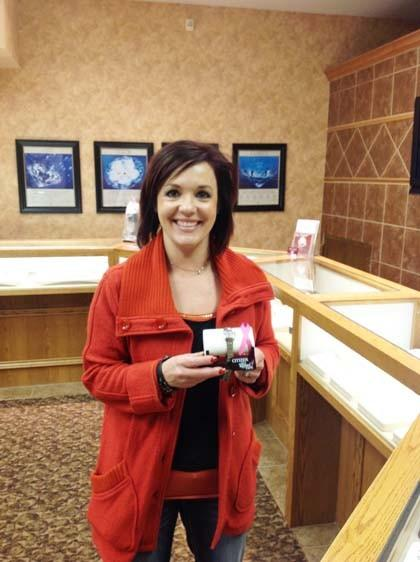 During breast cancer awareness month in October, Heiser's Jewelry in Aberdeen gave away prizes in support of breast cancer awareness. On Oct. 29, Melissa Kampa won the grand prize - a ladie's Susan Komen Citizen watch.