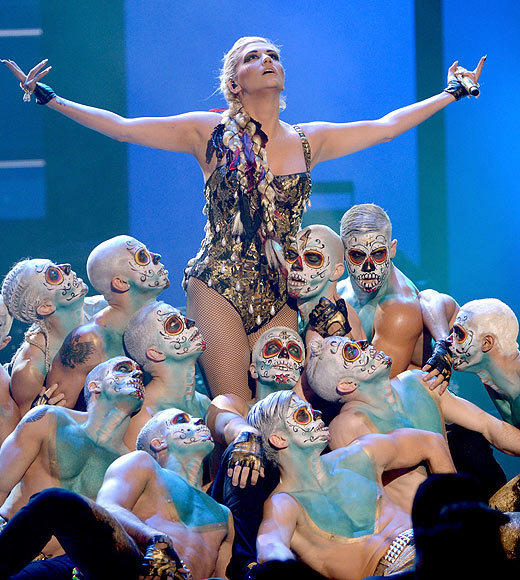 American Music Awards 2012: Best and worst moments: Winter arrived a little early at the 2012 American Music Awards courtesy of Ke$ha. The pop singer came out on stage to perform Die Young on what looked to be her take on the Game of Thrones Iron Throne, and then proceeded to show off a Daenerys-style look -- though it should be noted that the mother of dragons likely wouldnt be caught dead dry-humping her back-up dancers in a gold unitard.   -- Terri Schwartz, Zap2it