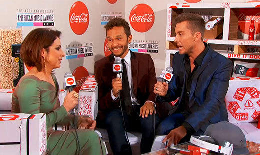 "From forcing celebs to spin a Coca-Cola wheel for their red-carpet question to sandwiching them between Wonderful brand pistachios and Will.I.Am's Ekocycle products for a sitdown with Lance Bass, the sponsored pre-show clumsily straddled the line between product placement and infomercial. <br><br> <i>-- <a href=""http://twitter.com/mollychance"">Molly Chance</a>, <a href=""http://www.zap2it.com"">Zap2it</a></i>"