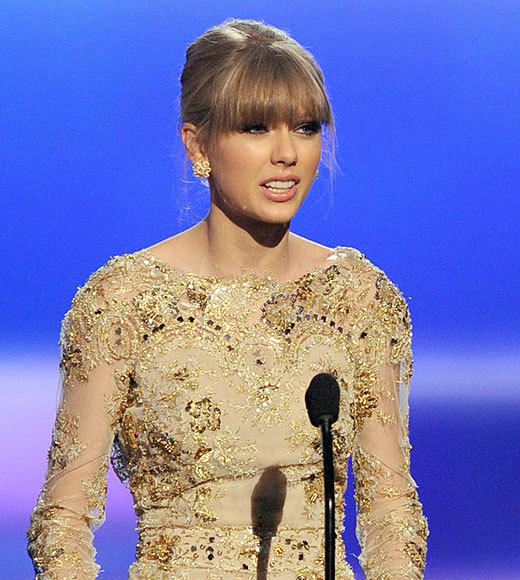 "As Taylor Swift took the stage to accept her award for Favorite Country Female, presenter Eric Stonestreet said sarcastically, ""Taylor, have you ever won an award before?"" Hardy-har. Actually, it's her fifth year in a row accepting this exact award. In that exact dress. With that exact ""shocked"" look on her face. <br><br> <i>-- <a href=""http://twitter.com/cadlymack"">Carina Adly MacKenzie</a>, <a href=""http://www.zap2it.com"">Zap2it</a></i>"