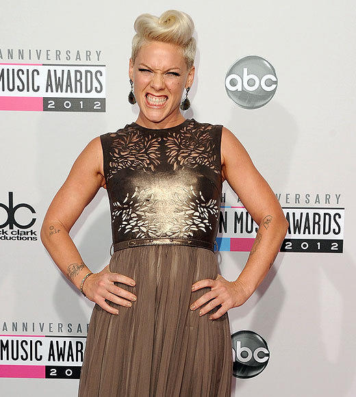 American Music Awards 2012: Best and worst moments: When asked who she would like to work with in the future, Pink first talked about Lauryn Hill. On further reflection, she realized her other potential collaborators were no longer with us. Pink is weird.  -- Laurel Brown, Zap2it