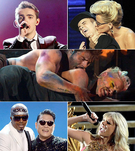 American Music Awards 2012: Best and worst moments: Justin Bieber got attacked. Pink got raw. The Wanted got serious stage time. Taylor Swift got racy. And M.C. Hammer made a surprise appearance. All that and more as Zap2it runs down the high- and lowlights of the 2012 American Music Awards.