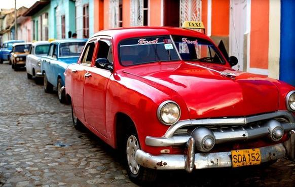 Beautifully restored American cars from the 1950s are commonplace in Cuba. And although Cubans cannot get American replacement parts, they have ingeniously fashioned their own from Russian car parts. With Cuba opening up, there is now a large market for these cars in Europe.