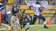 -- The latest star turn in Ravens return specialist Jacoby Jones' stellar season unfolded Sunday night as he bolted into the end zone on a punt return for a touchdown.