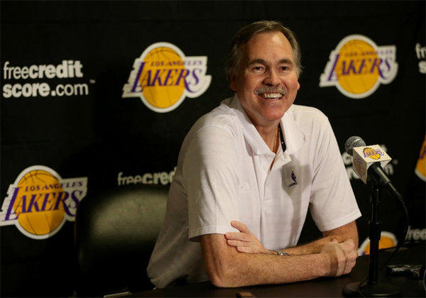 Mike D'Antoni watched the game from the locker room.