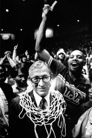 John Wooden, shown after winning the national championship with UCLA in 1975, is said to have been recorded in an 1981 interview that has been released to the public for the first time.