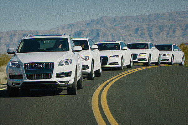Audi will unveil four new diesel models and an updated Q7 TDI at the 2012 L.A. Auto Show.
