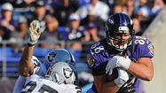 Tight end Dennis Pitta's concussion symptoms subsided during the Ravens' 13-10 victory over the Pittsburgh Steelers, according to coach John Harbaugh.