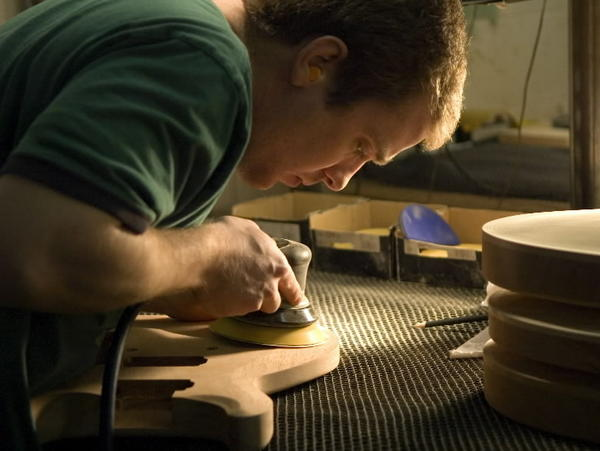 A Paul Reed Smith Guitars product in the making.
