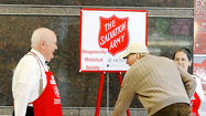 The Salvation Army kicked off its holiday kettle drive Monday at Valley Mall, and as members of the organization spoke, holiday music played and a $1,000 check exchanged hands.