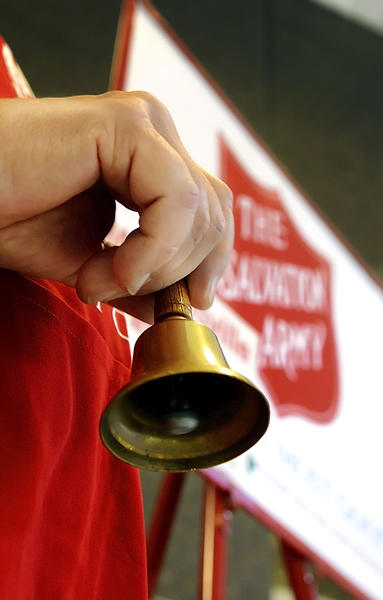 Bells start ringing as The Salvation Army kicked off its kettle drive Monday at Valley Mall.