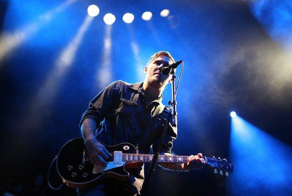 Brian Fallon of the Gaslight Anthem performs last month at a concert in Austria.