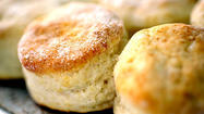"Ever have a craving for biscuits? Not the hockey pucks, but those tender, lighter-than-air biscuits. The ones so delicate they have to be homemade and eaten fresh, while they're still warm. Maybe with a little tang from buttermilk, and a crumb that perfectly balances flaky and crumbly. These biscuits were adapted from Gourmet magazine (November 1992), and the recipe is demonstrated in the video at left by Test Kitchen manager <a id=""PECLB00014895"" class=""taxInlineTagLink"" title=""Noelle Carter"" href=""http://www.latimes.com/topic/arts-culture/journalism/noelle-carter-PECLB00014895.topic"">Noelle Carter</a>."