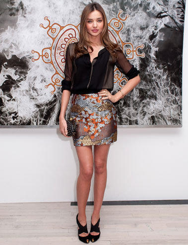 Miranda Kerr attends the Raw Spirit-Fire Tree fragrance oil and 'Nomad Two Worlds' book launch event at ABC Carpet & Home in New York City.