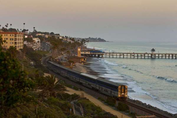 The Pacific Surfliner cruises through San Clemente. Reservations are a must beginning today and through the Thanksgiving weekend.