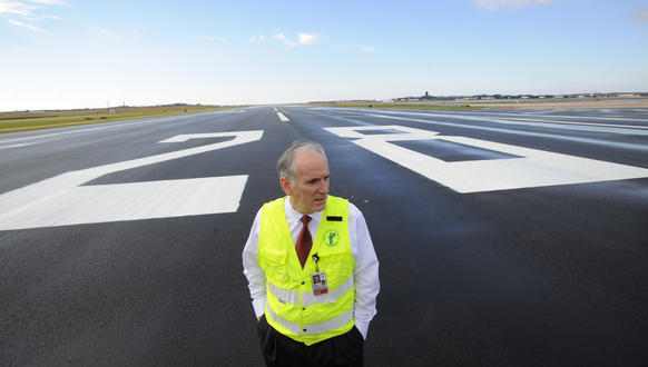 Paul Wiedefeld is the executive director of BWI and pictured out on the new runway.