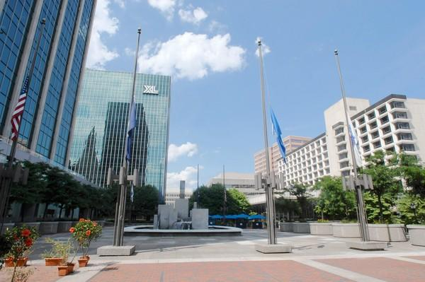 This is part of Constitution Plaza in Hartford.