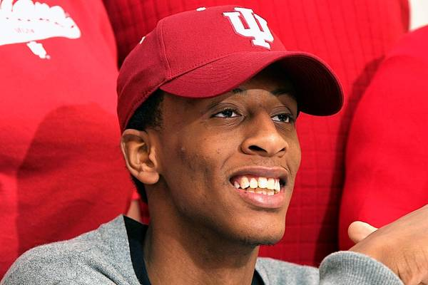 Troy Williams signed a letter of intent to play basketball for Indiana Monday at Boo Williams Sportsplex in Hampton.