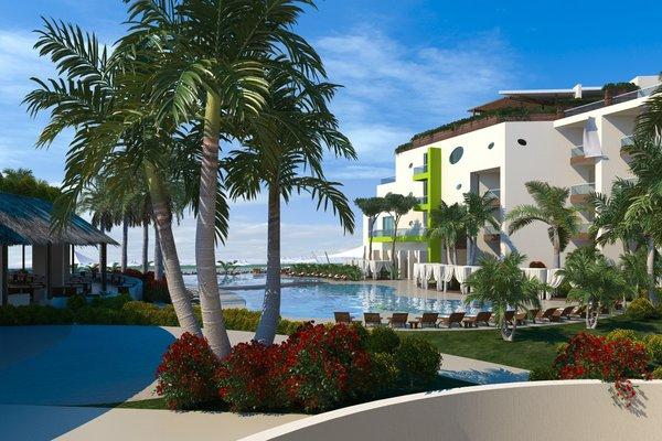An artist's render of the Hilton Puerto Vallarta Resort, which overlooks Banderas Bay in Mexico.