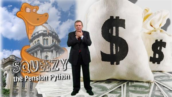Gov. Pat Quinn's Squeezy the Pension Python campaign is mock-worthy, but it has gotten people talking about Illinois' crushing public pension liabilities.