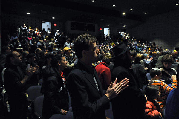 "An overflow crowd packed the Herbert Gilman Theater at the Mandell JCC in West Hartford Monday evening to show support for Israel. The program, ""We Stand with Israel: An Evening of Solidarity"", was co-sponsored with the Jewish Federation of Greater Hartford Monday evening. Remarks from members of the Connecticut Congressional Delegation, Greater Hartford Rabbis and community leaders. spoke in response to the recent events and continued attacks on the nation of Israel by terror groups in Gaza."