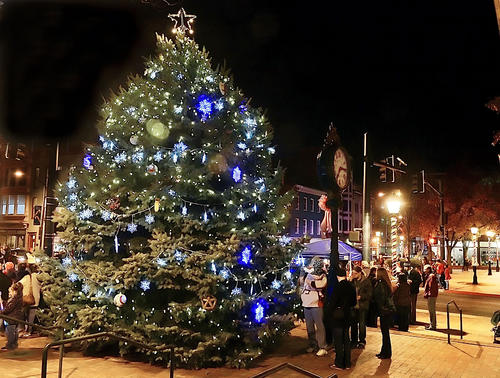 The annual Christmas tree lighting took place Monday evening at City Center in Hagerstown.