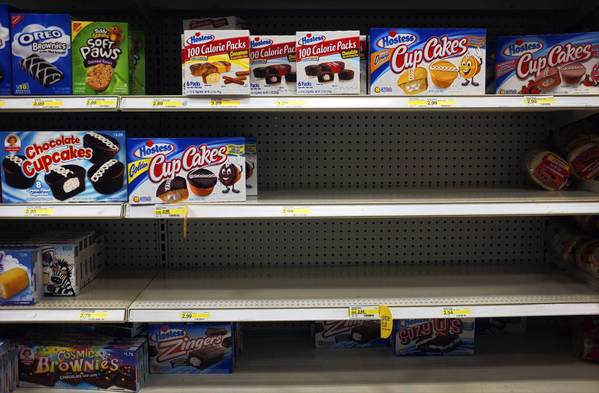 Twinkies are sold out in a grocery store in Willowbrook.