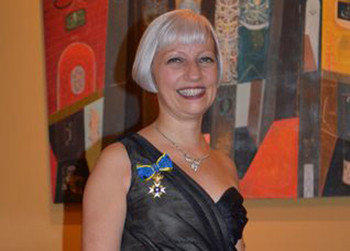 Annette Seaberg was recently awarded the exclusive Royal Swedish Order of Chivalry, Order of the Polar Star award. The award is given on behalf of King Carl XVI Gustaf, recognizing foreign nationals and members of the royal family for their service to Sweden or Swedish interests.  Seaberg serves a assistant vice president and wealth management investment associate for Merrill Lynch Wealth Management's Oberlander Group. She is responsible for the group's asset management activities, client education programs, and guiding her clients through the wealth management process. Photo courtesy of Erik Kinnhammar.