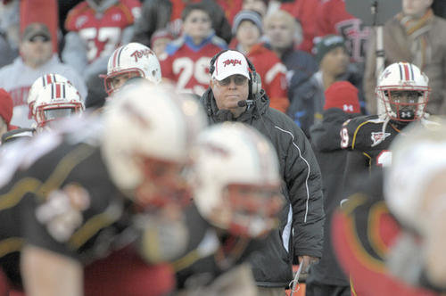 Maryland coach Ralph Friedgen watches from the sidelines as the Terps face Boston College.
