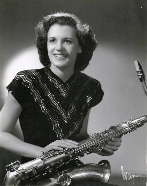 Laura Daniels was a USO saxophone player/
