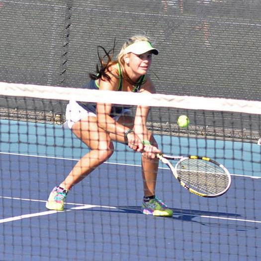 Liana Korber of Sage Hill reached the third round at the CIF Individuals.