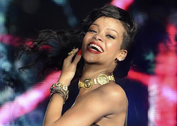 "Rihanna performs at The Forum in Kentish Town in London to promote her latest album ""Unapologetic."""