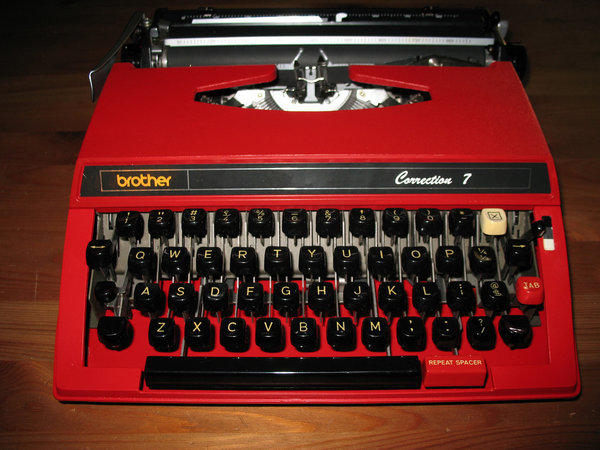 A vintage Brother typewriter. Brother has made its last typewriter in the U.K.