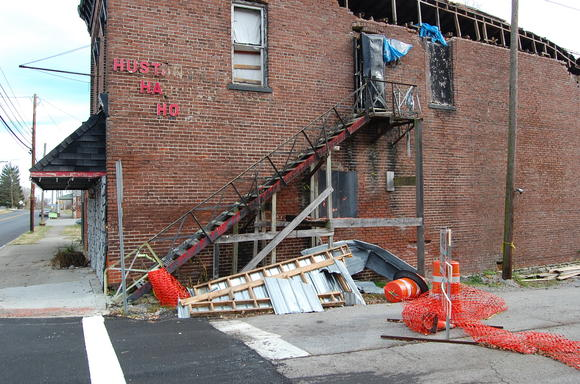 In February, a portion of the wall collapsed at the Hustonville Haunted House, and city officials closed off a section of Old Liberty Road in an effort to protect residents. As of Monday, the road was still closed.