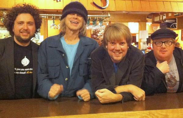 NRBQ, from left, Conrad Choucroun, Terry Adams, Scott Ligonand Casey McDonough, play at Toad's Place in New Haven Saturday.