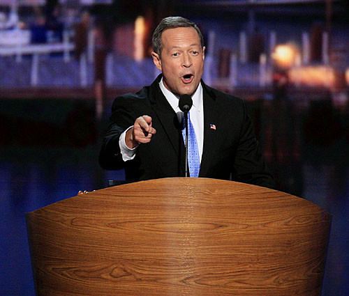 Governor Martin O'Malley at the Democratic National Convention.
