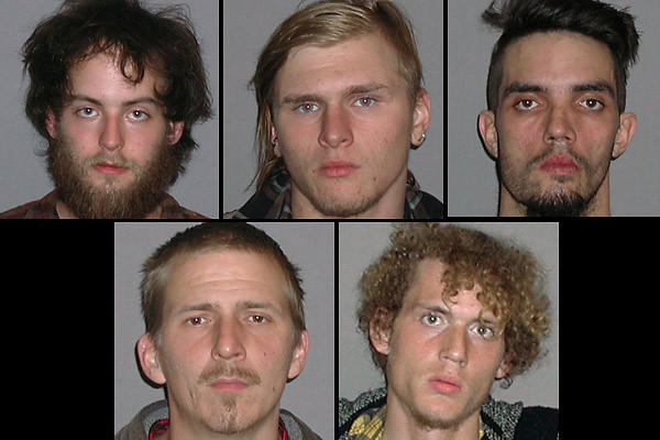 "Five self-described anarchists were arrested in a plot to blow up an Ohio bridge. The anarchists spent months discussing several different attacks before settling on the bridge near Cleveland. They did not realize they were being closely monitored and had purchased inoperable explosives from an undercover FBI agent until they were arrested after trying to detonate the bombs. Top Row: Connor Stevens, Brandon Baxter, Douglas Wright. Bottom row: Anthony Hayne and Joshua Stafford. The five self-described anarchists were arrested in a plot to blow up an Ohio bridge but the public was never in any danger, the FBI said Tuesday. The anarchists spent months discussing several different attacks before settling on the bridge near Cleveland. They did not realize they were being closely monitored and had purchased inoperable explosives from an undercover FBI agent until they were arrested after trying to detonate the bombs. ""The individuals charged in this plot were intent on using violence to express their ideological views,"" Stephen Anthony, special agent in charge of the Cleveland division of the FBI, said in a statement."