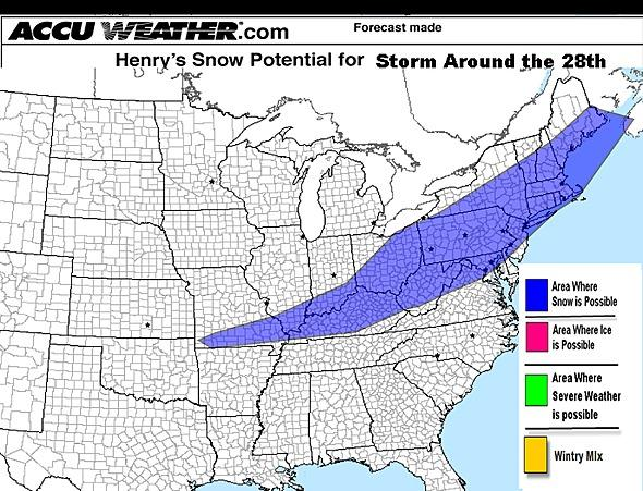 AccuWeather.com's Henry Margusity predicts potential widespread snow after Thanksgiving.