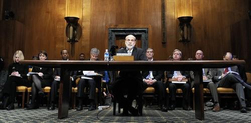 Federal Reserve Chairman Ben Bernanke testifies on Capitol Hill in Washington, D.C. Tuesday.