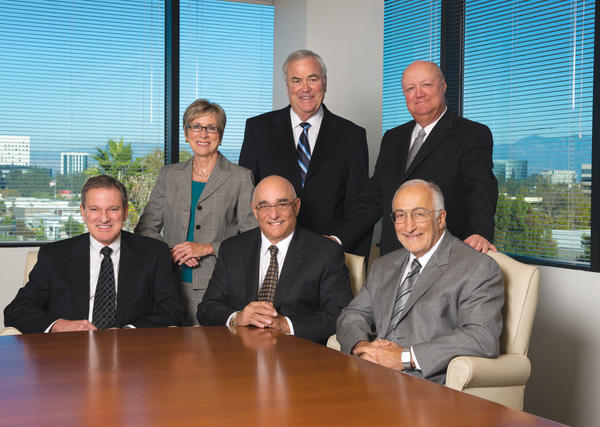 Seated From left: James Leese, Trust and Estate, Jim Ferruzzo, Litigation, Tom Ferruzzo, Business; Standing From Left: Nancy Ferruzzo, John Bradshaw, Wayne Jones