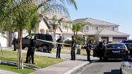 Calexico police put up crime scene tape at a home on F Torres Street after a man apparantly attacked his mother and sister while under the influence of methamphetamine this morning.