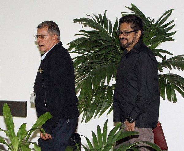 Negotiators with the Revolutionary Armed Forces of Colombia in Havana for talks with Colombian government officials.