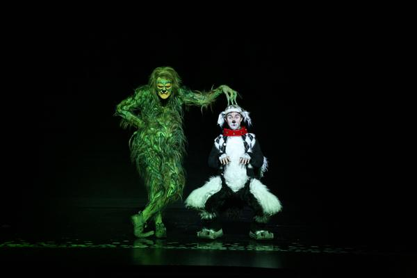 "A scene from the touring production of ""Dr. Seuss' How the Grinch Stole Christmas"""