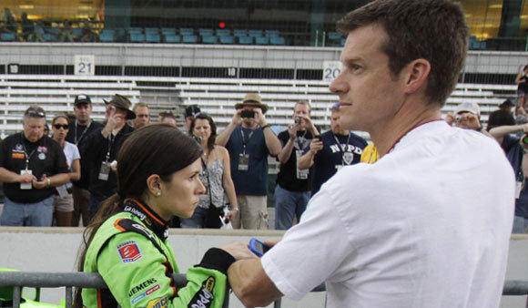 Danica Patrick and Paul Hospenthal, shown in 2011, are divorcing after seven years of marriage.