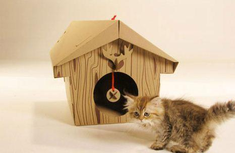 "This cardboard playhouse for a furry friend can provide entertainment during the holidays. The chalet comes with a scratch pad inside and open, paw-sized holes in the back for playing cats.<br><br>  Price: $24<br><br>  Where to find: Plastica, 8405 W. 3rd St., Los Angeles, (323) 655-1051, <a href=""http://www.plasticashop.com/mm5/merchant.mvc?Screen=PROD&Store_Code=P&Product_Code=CATCH&Category_Code=P91"">http://www.plasticashop.com/</a><br><br>  --DG<br><br>"