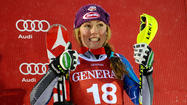 Mikaela Shiffrin, 17, the U.S. slalom prodigy, is thumbs-up for making the World Cup podium in Levi, Finland 10 days ago.  (Alain Grosclaude / Getty Images)