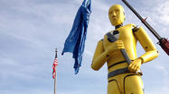 "As state officials unveiled a giant statue of a crash test dummy at its new home in Glen Burnie Tuesday, they deemed it ""destined to be a regional landmark."""