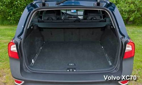 With its whopping 72.1 cubic feet of cargo space with the backseat folded, the 2013 Volvo XC70 has plenty of room for your family's holiday gifts as well as a few bonus items for you.