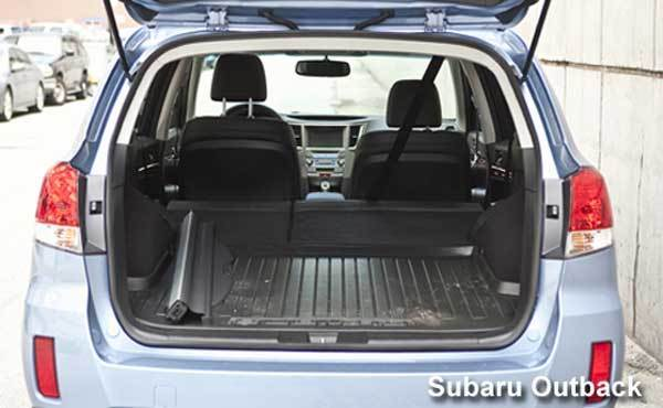 The 2013 Subaru Outback falls just short of the XC70's cargo area, but its 71.3 cubic feet (with the rear seats folded) is nothing to scoff at. One advantage is its standard all-wheel drive, optional on the XC70. Snow won't stop the bargain hunter in the all-wheel-drive Outback.